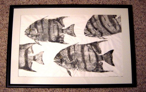 Original Gyotaku Fish Rubbings